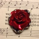 Red Metal Rose Jewelry Finding