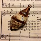 Real Sea Shell Dipped in Bronze Paint Necklace Pendant