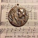 Vintage Silver Religious Saint Nimattullah Kassab Al-Hardini Coin Pendant