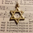 Gold Colored Star of David Pendant