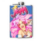 Stainless Steel Flask - 8oz., Jem Print