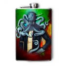 Stainless Steel Flask - 8oz., Octopus Man Wearing Suit