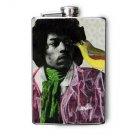Stainless Steel Flask - 8oz., Jimi Hendrix with Bird