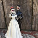 Day of the Dead Wedding Cake Topper with Veil
