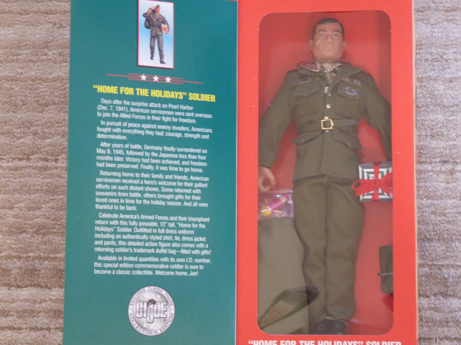 "Retro GI Joe ""Home for the Holiday"", Limited Edition, 12"" Action Figure, 1996"