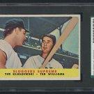 "Vintage Baseball Card Ted Kluszewski and Ted Williams ""Sluggers Supreme"" Topps 1958 #321, SCG 5"