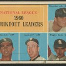 Baseball Card, Don Drysdale, Ernie Broglie, Sandy Koufax, Sam Jones, 1961, Topps #49