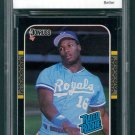 Retro Baseball Card, Bo Jackson Rookie Card, 1987 Donruss #35, BCCG 10