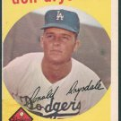 Retro Baseball Card, Don Drysdale, 1959, Topps #387