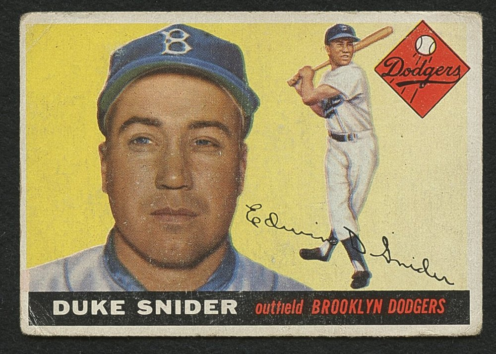Retro Baseball Card, Duke Snider 1955 Topps #210