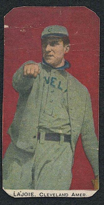 Vintage Baseball Card, Napoleon Lavoie, 1910 Standard Caramel E93 #19