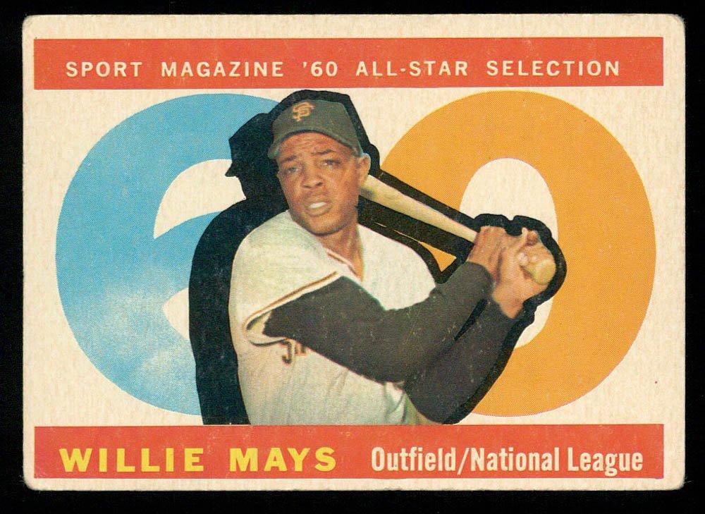 Retro Baseball Card, Willie Mays 1960 Topps #564 All-Star