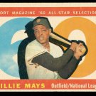 Retro Baseball Card, Willie Mays 1960 Topps #564 All-Star
