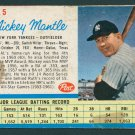 Retro Baseball Card, Mickey Mantle 1962 Post #5A