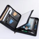 Black iPad mini Zipper Around Portfolio Case with Paper Pad Holder for Apple mini iPad
