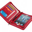 Red mini iPad Clutch Case with Zipper for Apple iPad mini Carrying