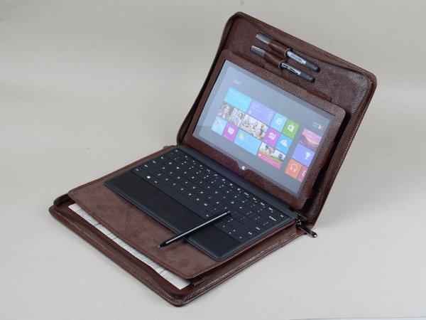 Coffee Surface Pro 4 Standing Portfolio With Writing Pad