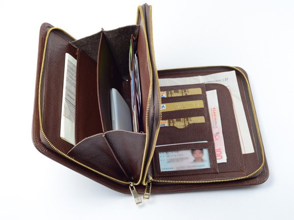 Coffee mini Wallet Case with Apple iPad mini 4 Carrying Portfolio with Handle Purse