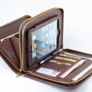 Coffee Portfolio Case for Apple iPad mini in full grain leather