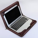 Leather Macbook Air 11 inch Cover Business Portfolio Case for Apple Mac Air Zipper