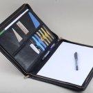 Leather Portfolio Case,Carrying Portfolio with A4 Paper Writing Notepad,Letter size Portfolio