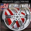 VERSANTE WHEELS 226 24X9.5  6.139.7 ET25 CHROME FOR CADILLAC ESCALADE  GMC YUKON CHEVY TAHOE