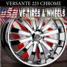 VERSANTE 225 22X9.5  5.115 ET+15 CHROME RIMS CHRYSLER 300C DODGE CHARGER