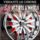 VERSANTE 225 26X10 5.120 ET+15 CHROME RIMS FOR OLSMOBILE CUTLASS  CHEVY CAPRICE