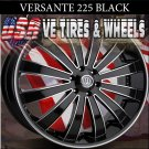 VERSANTE 225 22X8 5.114.3 ET+38 BLK /MF/S/T  FOR FORD MUSTANG  KIA OPTIMA