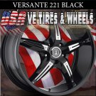 VERSANTE 221 22X8.5  5.114.3 ET+35 BLK CHROME /INSERT  NISSAN MAXIMA CADILLAC STS