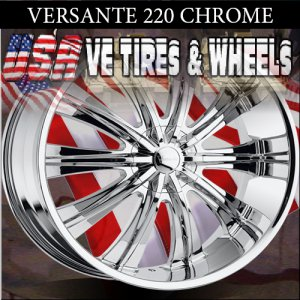 VERSANTE 220 26X9.5 6.135/139.7 ET+25 CHROME RIMS  FORD F150  CHEVY TAHOE