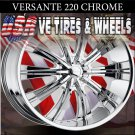 VERSANTE 220 22X9.5  5.115/127 ET+15 CHROME RIMS CHRYSLER 300C DODGE CHARGER  CHEVY CAPRICE
