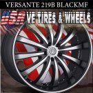 VERSANTE 219B 22X9.5  6.139.7 ET+30 BLK /MF/ST CHEVY TAHOE NISSAN ARMADA CHEVY SILVERADO
