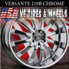 CHROME WHEELS 219 22X8.5 5.114.3 ET+38 RIMS NISSAN MAXIMA CHEVY MONTECARLO