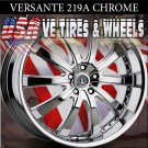 VERSANTE 219 20X8.5 5.114.3 ET+40 CHROME WHEELS  CADILLAC STS NISSAN MAXIMA