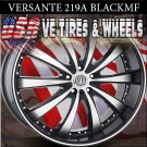 VERSANTE 219B 24X9.5 5.115 ET+15 BLK/MF/ST  CHRYSLER 300C DODGE CHARGER