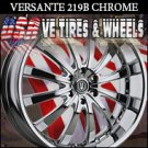 CHROME RIMS 219 26X9.5 6.139.7 ET+25 CHROME CHEVY TAHOE  GMC YUKON NISSAN ARMADA