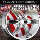 CHROME WHEELS 218 24X9.5 6.139.7 ET+25 RIMS  CHEVY TAHOE CADILLAC ESCALADE  GMC YUKON