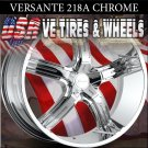 CHROME WHEELS 218 24X9.5 5.115 ET+15 RIMS CHRYSLER 300C  DODGE CHARGER