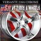 VERSANTE 218 20X7.5 5.114.3 ET+38 CHROME RIMS NISSAN MAXIMA OLDSMOBILE CUTLASSS