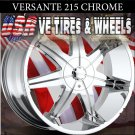 VERSANTE 215 24X9.5 5.115/127 ET+15 CHROME WHEELS CHRYSLER 300C DODGE CHARGER MAGNUM