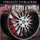 VERSANTE 213 20X8.5 5.112 BLK /MF/ST ET+35 AUDI A4 MERCEDES 500 PASSAT