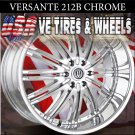 VERSANTE 212  24X9.5 6.139.7 ET+25 CHROME WHEELS CADILLAC ESCALADE  GMC YUKON