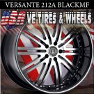 VERSANTE 212B 22X8 5.114.3 BLK M/F S/T  CHEVY MONTE CARLO  NISSAN MAXIMA