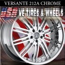 VERSANTE 212 22X8 5.114.3 ET+38 CHROME RIMS  CADILLAC STS  NISSAN MAXIMA