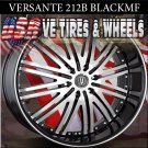 BLACK WHEELS VERSANTE 212 24X9.5 5.115 ET+15 BLK MF ST  CHRYSLER 300C DODGE CHARGER  DUBS