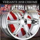 VERSANTE 205  22X9.5 6.139.7 ET+30 CHROME RIMS  CHEVY TAHOE  GMC YUKON