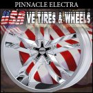 PINNACLE ELECTRA 18X7.5 5.108/114.3 ET+40 CHROME  CADILLAC CTS  JAGUAR XJS FORD FOCUS