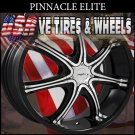PINNACLE ELITE 17X7 4.100/114.3 ET+40 RIM BLK MF   HONDA CIVIC HONDA FIT  KIA RIO