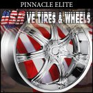 PINNACLE ELITE 22X9.5 BLANK ET+15 CHROME WHEELS  WE COULD CUSTOM DRILL MOST BOLT PATTERNS